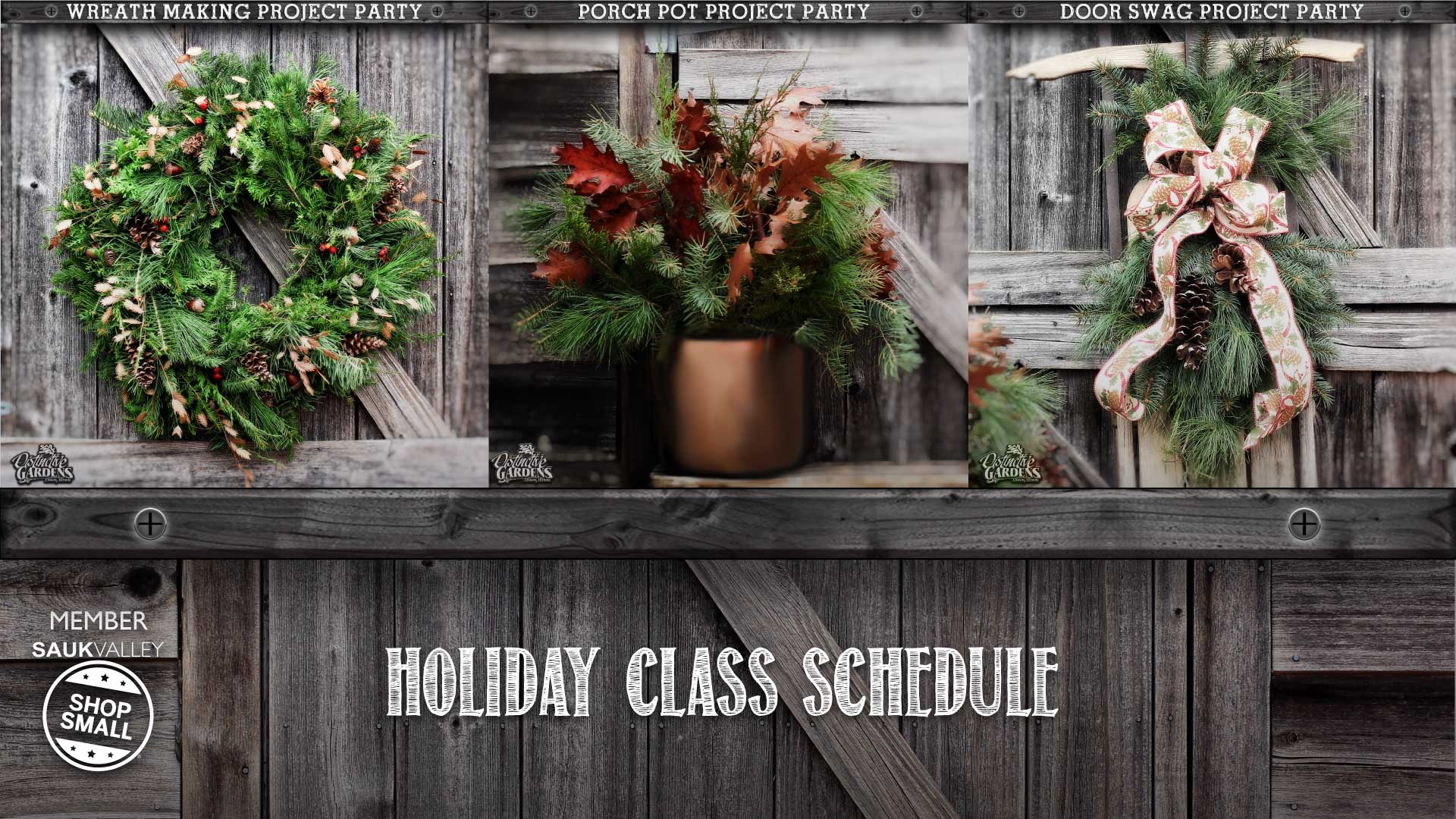 Holiday Class Schedule and Group Parties 2015